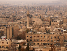 the Old City of Aleppo as seen from Aleppo's historic citadel, Syria December 11, 2009