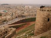 Aleppo's historic citadel, overlooking Aleppo city, Syria