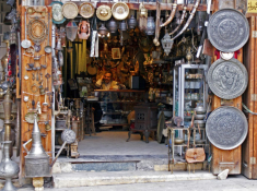 An antique shop in al-Jdeideh neighbourhood, in the Old City of Aleppo