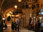Khan al-Shounah market, in the Old City of Aleppo, Syria