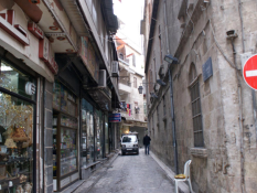 shops in al-Jdeideh neighbourhood, in the Old City of Aleppo, Syria