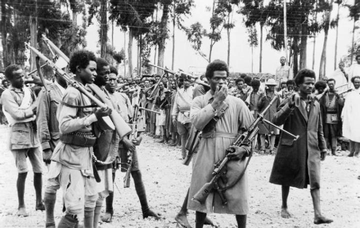 Ethiopian_men_gather_in_Addis_Ababa,_heavily_armed_with_captured_Italian_weapons,_to_hear_the_proclamation_announcing_the_return_to_the_capital_of_the_Emperor_Haile_Selassie_in_May_1941.