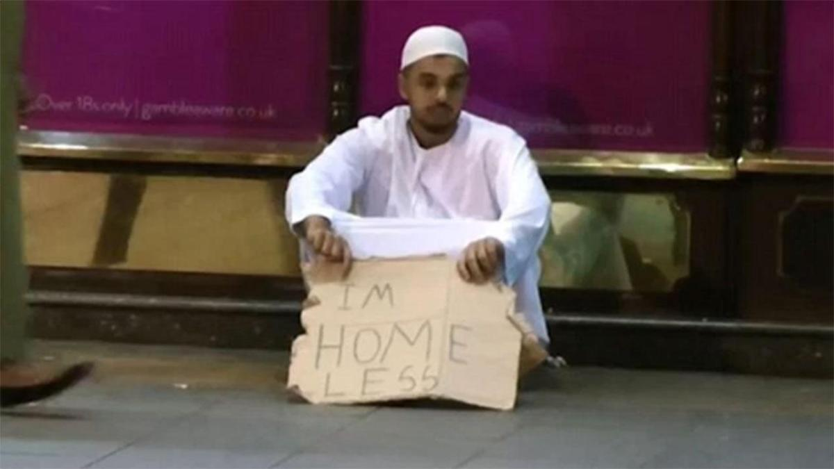 A Muslim pretends to be homeless in London. You won't believe what happened..