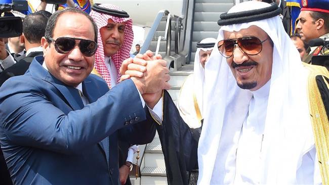 Egyptian President, Sisi, and Saudi King, Salman, April 2016