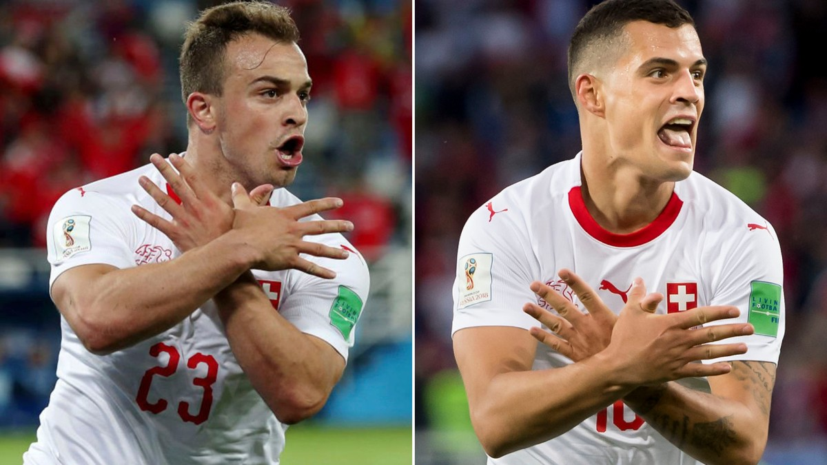 Albanian-Muslim inspired gesture by Granit Xhaka and Xherdan Shaqiri towards Serbia sparks huge Controversies